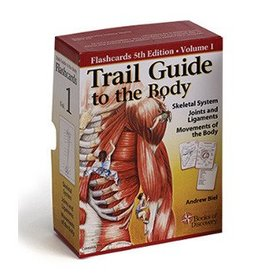 5th Edition Trail Guide to the Body Flash Cards Volume 1 Skeletal System