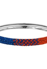 Chelsea Taylor BLUE AND ORANGE CRYSTAL BANGLE BRACELET