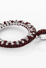 Chelsea Taylor MAROON AND WHITE CRYSTAL CIRCLE NECKLACE