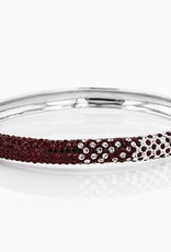 Chelsea Taylor MAROON AND WHITE CRYSTAL BANGLE BRACELET