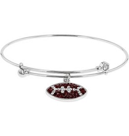 Chelsea Taylor MAROON AND WHITE CRYSTAL BRACELET