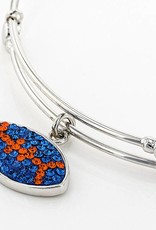Chelsea Taylor BLUE AND ORANGE CRYSTAL FOOTBALL CHARM BRACELET