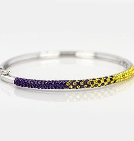 Chelsea Taylor PURPLE AND GOLD CRYSTAL THIN BANGLE BRACELET
