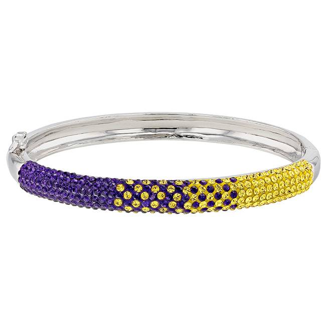 Chelsea Taylor PURPLE AND GOLD CRYSTAL BANGLE BRACELET