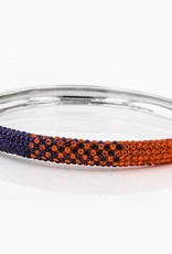 Chelsea Taylor ORANGE AND PURPLE CRYSTAL BANGLE BRACELET