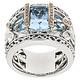 BELLARRI S/S / 18K RG 5.90CTW BLUE TOPAZ(IRR)/0.08CTW DIAMOND RING