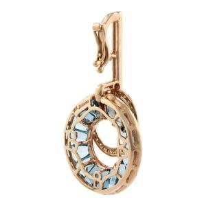 BELLARRI 14K RG 5.35CTW BLUE TOPAZ/LONDON BLUE TOPAZ/.25CTW DIAMOND PENDANT/BELLARRI