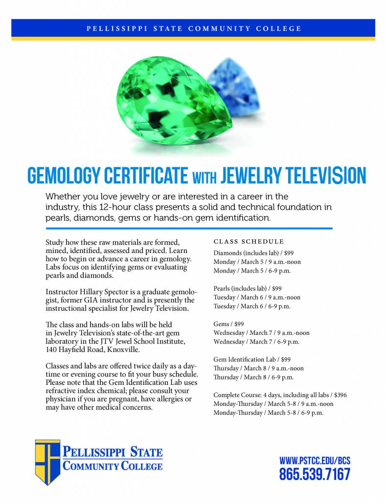 Gemology Certificate w/ Jewelry Televison