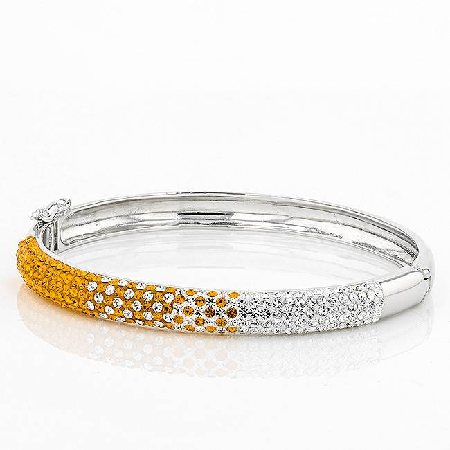 Chelsea Taylor 6MM BANGLE ORANGE & WHITE