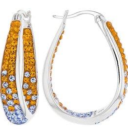 Chelsea Taylor ORANGE & LIGHT SAPPHIRE HORSESHOE EARRINGS