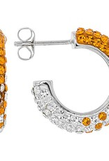 Chelsea Taylor SMALL HOOP EARRINGS ORANGE & WHITE