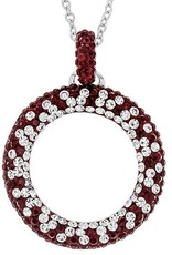 Chelsea Taylor DEEP RED  CIRCLE PENDANT