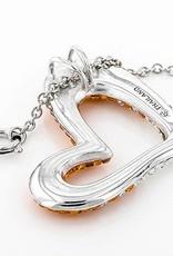 Chelsea Taylor FLOATING HEART ORANGE & WHITE