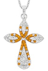 Chelsea Taylor PEAR SHAPE ORANGE & WHITE CROSS