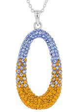 Chelsea Taylor LARGE OVAL ORANGE & LIGHT SAPPHIRE PENDANT