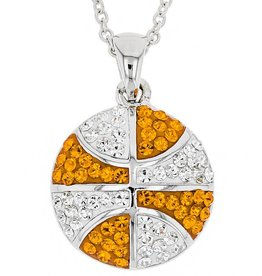 Chelsea Taylor BASKETBALL ORANGE & WHITE PENDANT