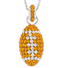 Chelsea Taylor 3-D FOOTBALL PENDANT ORANGE & WHITE