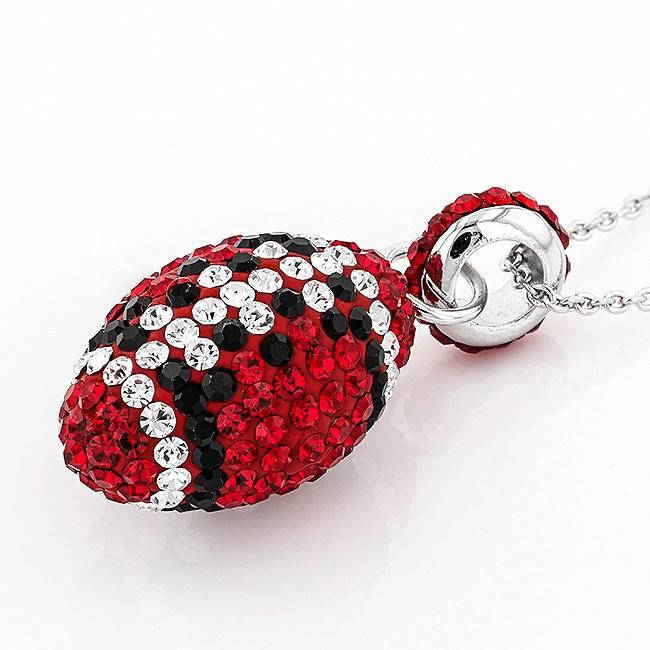 Chelsea Taylor RED & BLACK  FOOTBALL PENDANT