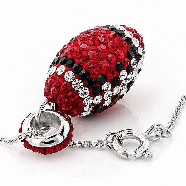 Chelsea Taylor RED & BLACK  FOOTBALL PENDANT