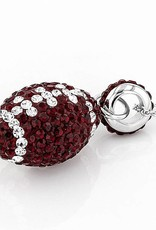 Chelsea Taylor DEEP RED  FOOTBALL PENDANT