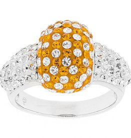 Chelsea Taylor ORANGE AND WHITE CUSHION RING