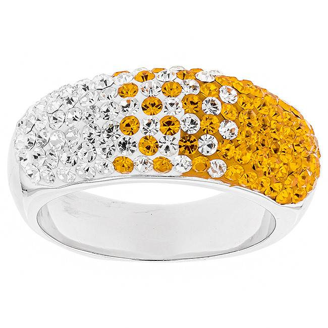 Chelsea Taylor 10MM TAPERED ORANGE & WHITE RING