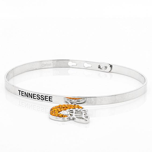 Chelsea Taylor MEMORY BANGLE WITH DANGLE FOOTBALL HELMET
