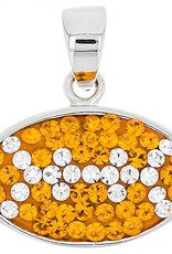 Chelsea Taylor (NO CHAIN) ORANGE AND WHITE FLAT FOOTBALL PENDANT
