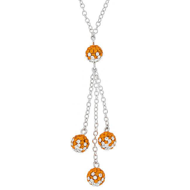 Chelsea Taylor ORANGE AND WHITE DANGLE NECKLACE
