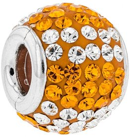 Chelsea Taylor ORANGE & WHITE 4 STRIPE CHARM