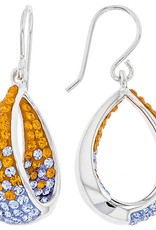 Chelsea Taylor DANGLE IN/OUT EARRINGS ORANGE & LIGHT SAPPHIRE