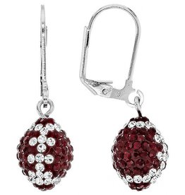 Chelsea Taylor 3-D FOOTBALL EARRINGS SIAM & CLEAR