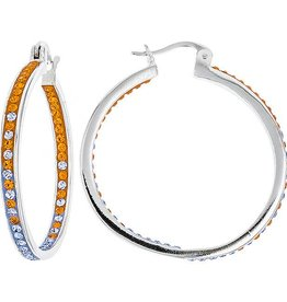 Chelsea Taylor INSIDE OUT HOOP ORANGE & LIGHT SAPPHIRE EARRINGS