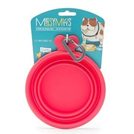 Messy Mutts Silicone Collapsible Bowl Small Watermelon