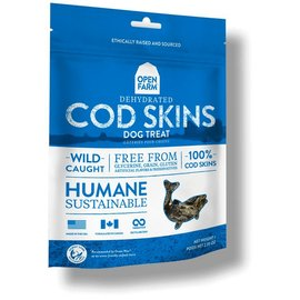 Open Farm Dehydrated Cod Skin Treats 2.25oz