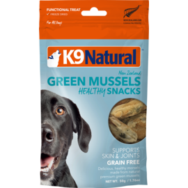 K9 natural Freeze Dried GL Mussels 50g