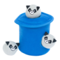 ZippyPaws Racoons Trash Can with Bubble