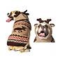 Chilly Dog Moose Hoodie & Antlers Tan