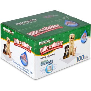 """Precision Pet Products """"Little Stinker"""" Housebreaking Pads 100pk"""