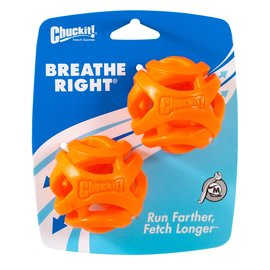 Chuck It Breath Right Fetch Ball (2 Pack) Medium