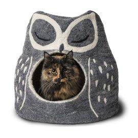 Dharma Dog Karma Cat Wool Felt Owl Cave