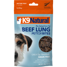 K9 natural Beef Lung Protein Bites 60g
