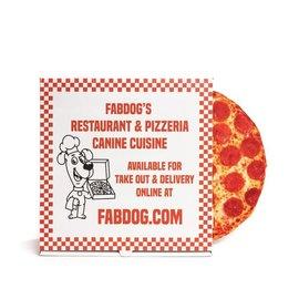 "Fabdog Pizza Toy 10"""