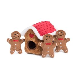 ZippyPaws Holiday Burrow Gingerbread House