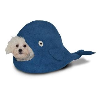 Dharma Dog Karma Cat Wool Felt Whale Cave Blue