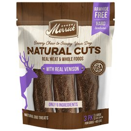 Merrick pet care Natural Cuts with Real Venison Large (3 ct)