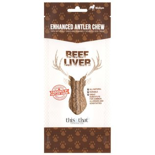 This & That Enhanced Antler Chew Beef Liver