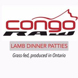 Congo Raw Food Natural Lamb Dinner 4/lb - Patties
