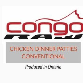 Congo Raw Food Regular Chicken Dinner 4/lb - Patties