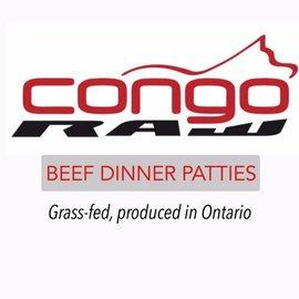 Congo Raw Food 100% Grass Fed Beef Dinner 4/lb - Patties